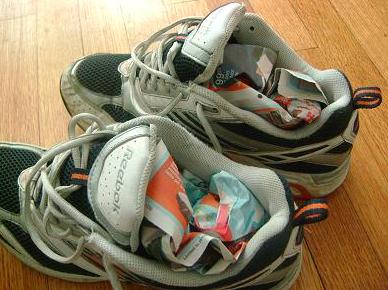 Put Surplus Paper Inside Your Shoes