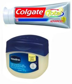 Vaseline or Toothpaste